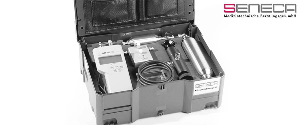 seneca Medizintechnik - MTK Koffer – Druckkalibrationsprüfsystem DKAL3